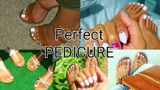 Download DIY: AT HOME PEDICURE | HOW TO: WHITE TOES! Perfect Soft Feet Video