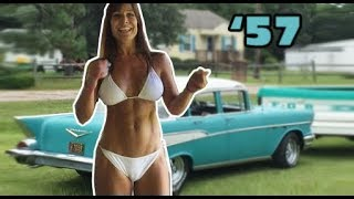 Download 57 Chevy and 50 year old Farm Girl's drive. A classic car and woman! Video