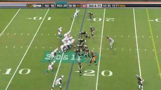Download New Orleans Saints' Darren Sharper makes a great bobbling Interception against The Miami Dolphins Video