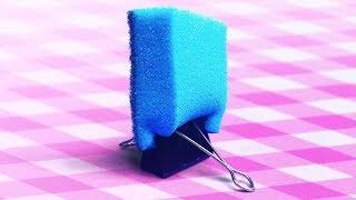 Download 20 COOL CLEANING TRICKS || SPONGE HACKS Video