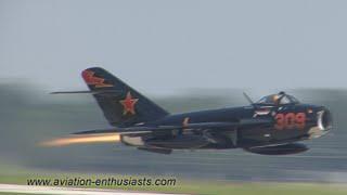 Download 2011 Gathering of Eagles XV Air Show Mikoyan-Gurevich MiG-17 Fresco Sunday flight Video