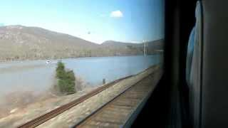 Download Metro-North train ride from New York Grand Central to Poughkeepsie. Hudson Line. Video