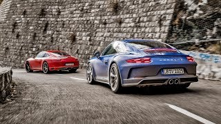 Download TopGear : Porsche 911 Carrera T vs GT3 Touring Video