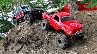 Download RC ADVENTURES - BACKYARD SCALE TRACK 4x4 ACTiON! DODGE & CHEVY Video