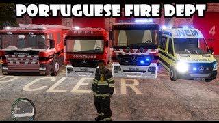 Download GTA IV - Portuguese Fire Dept responding to a warehouse fire / Bombeiros Portugueses Video