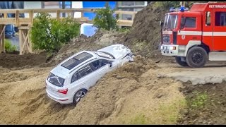 Download RC Firefighter Truck rescue of a crashed Audi Q5! Video