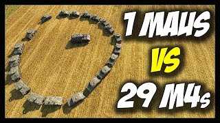 Download ► World of Tanks: 1 Maus vs 29 M4 Shermans - Jumping, Drowning, Killing! - Face Off #10 Video