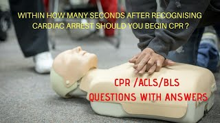 Download CPR/ACLS / BLS / Questions with answers useful for certification / DEFIBRILLATOR and CPR Video