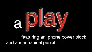 Download a Play featuring an iphone power block and a mechanical pencil Video