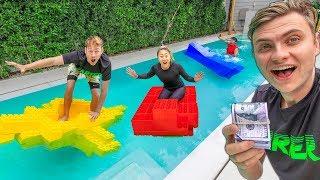 Download BEST LEGO BOAT WINS $10,000 (LAST TO SINK) Video