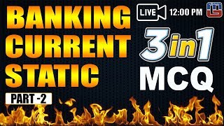 Download Banking | Current | Static | 3 in 1 | MCQ | Part 2 | General Awareness | 12:00 PM Video