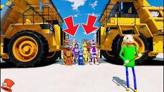 Download WILL BALDI CRUSH ALL THE ANIMATRONICS? (GTA 5 Mods FNAF Kids RedHatter) Video