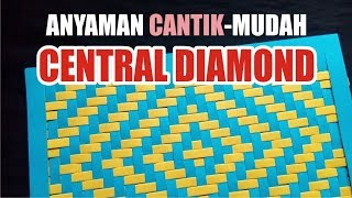 Download Cara Membuat anyaman kertas CENTRAL DIAMOND sangat mudah Video
