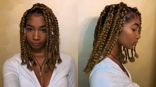 Download DOING MY OWN SHORT BOX BRAIDS FOR THE FIRST TIME! Video