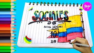 Download IDEAS PARA MARCAR CUADERNOS-Regreso a clase-Cómo dibujar portada de sociales-Yaye Video
