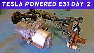 Download BMW E31 840CI EV Conversion 82 : Tesla Swap Day 2 Video