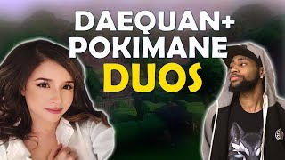 Download POKIMANE DUOS WITH DAEQUAN | FUN KILLS | TIPS TO GETTING BETTER - (Fortnite Battle Royale) Video