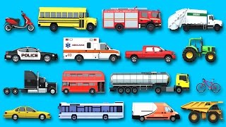 Download Learning Street Vehicles Names and Sounds for kids with Surprise Eggs Cars and Trucks Video