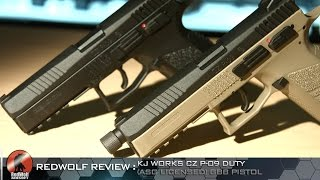 Download KJ Works CZ P-09 Duty (ASG Licensed) GBB Pistol - RedWolf Airsoft RWTV Video