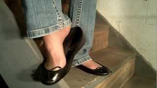 Download low cut flats on basement steps Video