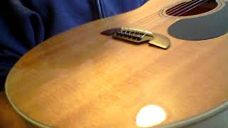 Download Huge sounding Alvarez AJ 80 a great one $299 in Hedges tuning Video
