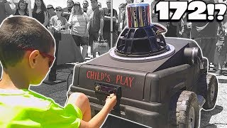 Download Little Kid HITS 172db w/ POWER WHEELS Car! World's LOUDEST Power Wheel SUBWOOFER Sound System!? Video