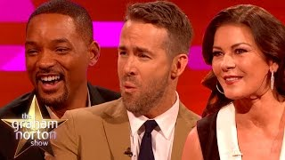 Download Will Smith, Ryan Reynolds and Catherine Zeta-Jones Talk Accents - The Graham Norton Show Video