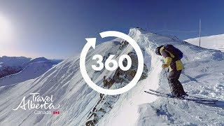 Download Skiing at Lake Louise Ski Resort | 360 Video | Google Jump 8K | Alberta, Canada Video