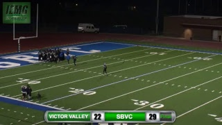 Download LIVE FOOTBALL! Victor Valley vs. SBVC (11-4-17) @ City of San Bernardino, CA. Video
