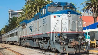 Download 4K - Fall & Winter Passenger Train Action in San Diego County - Featuring Amtrak Dash 8 #503! Video