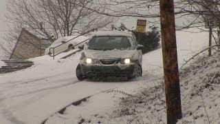 Download Cars slip and slide down icy hill - Charleston, WV - February 27, 2008 Video