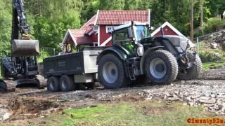 Download 4K| Kobelco SK270SR Digging & Loading Fendt 936, 724 & 939 Video