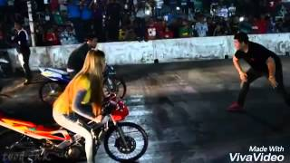 Download CEWEK NANTANG ADU BALAP MOTOR , GIRL RACER Video