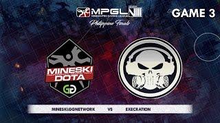 Download Mineski.GGnetwork vs Execration | MPGL Season 8 Philippine Finals | Semi Finals | Game 3 Video