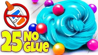 Download 25 EASIEST 1 INGREDIENT AND NO GLUE SLIME RECIPES EVER! NO FAIL! Video