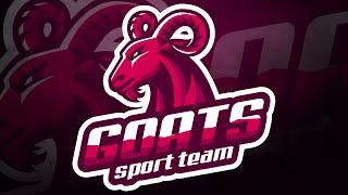 Download Adobe Illustrator Tutorial: Design E Sports/Sports Logo for Your Team - Goats Logo Video
