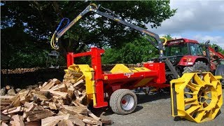 Download World Amazing Fastest Firewood Processing Machine Latest Techbology Splitter and Cutting wood Smart Video