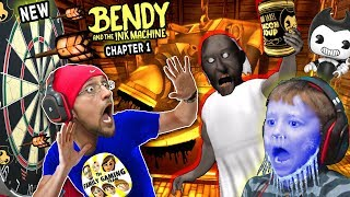 Download New BENDY & THE INK MACHINE Chapter 1 Update w/ FGTEEV Frozen Chase! GRANNY has DARTS! AHH! Video