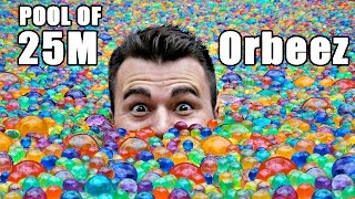 Download 25 MILLION Orbeez in a pool- Do you sink or float? Video