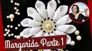 Download Margarida em Crochê   Parte 1 - flores em croche Video