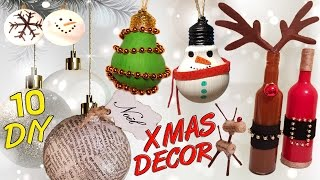 Download 10 DIY Christmas recycled decoration HOW TO! Video