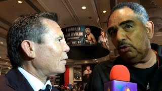 Download Abel Sanchez & Julio Cesar Chavez Sr. React to Canelo Alvarez & Gennady Golovkin weigh in Video