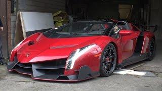 Download $5.0 Million Lamborghini Veneno Roadster On The Road! Video