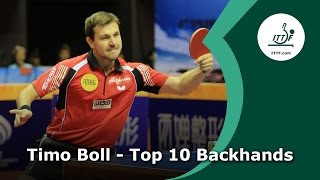 Download Top 10 - Timo Boll Backhands Video