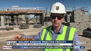 Download Progress on Golden Knights practice facility Video