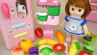 Download Fruit juice making and baby doll kitchen play house Video