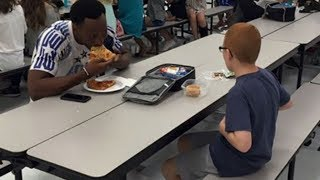Download Her Son Ate Alone At School Each Day. Then When A Football Star Sat Next To Him Mom Was In Tears Video