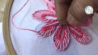 Download Hand Embroidery Buttonhole & Net Stitch Flowers Design # 23) by MaaCreative Video