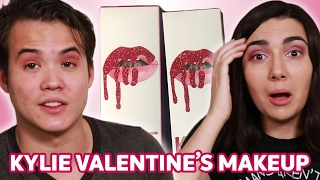Download Trying Kylie Jenner's Valentine's Makeup With My Boyfriend • Saf & Tyler Video