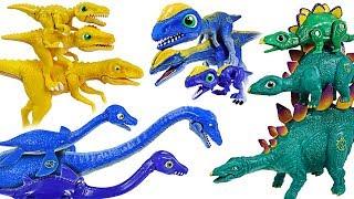 Download Dino Mecard Double figure 19 set! Tiny dinosaur Stegosaurus, Dilophosaurus, Deino! - DuDuPopTOY Video
